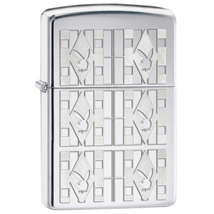 Зажигалка Zippo 28624 Playboy Triangles Polished Chrome