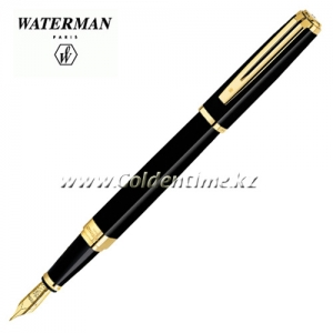Ручка Waterman Exception Slim Black Lacqu GT S0636940