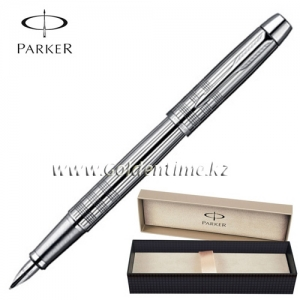 Ручка Parker 'IM' Premium Shiny Chrome Chiselled CT S0908640
