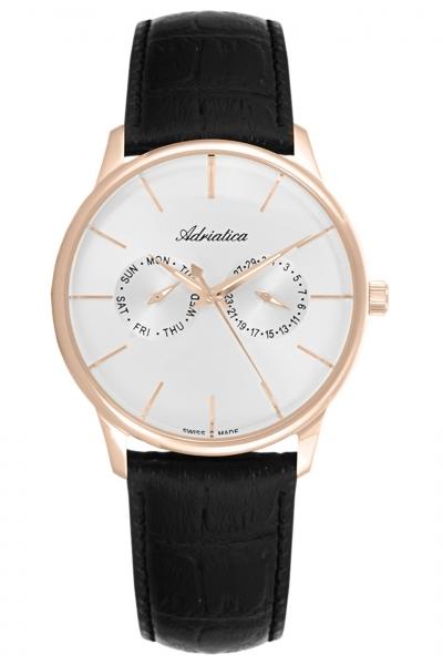 Мужские часы Adriatica A8243.9213QF Женские часы Rhythm G1202S02