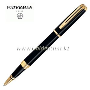 Ручка Waterman Exception Slim Black Lacqu GT S0636990
